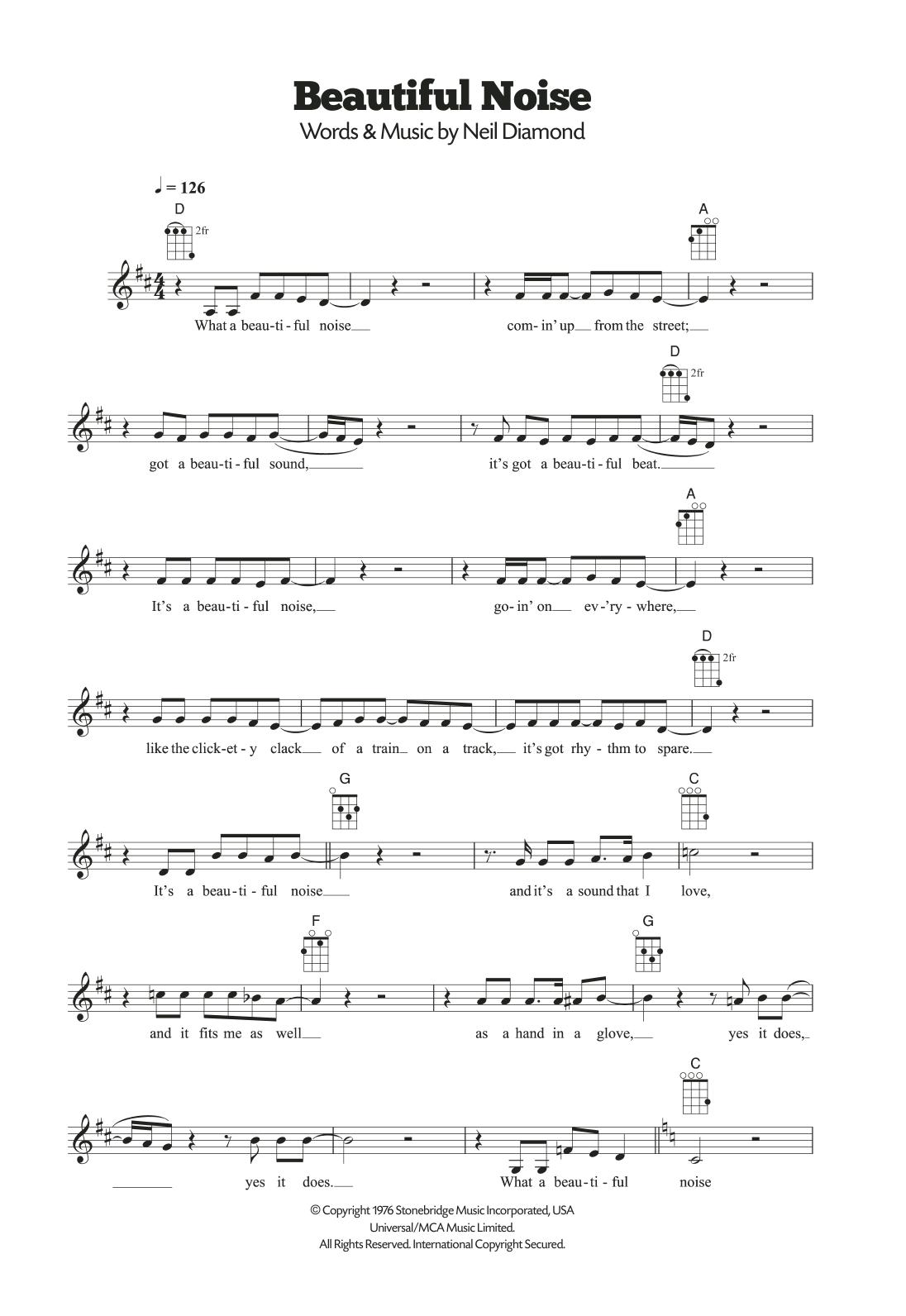 Beautiful Noise Sheet Music