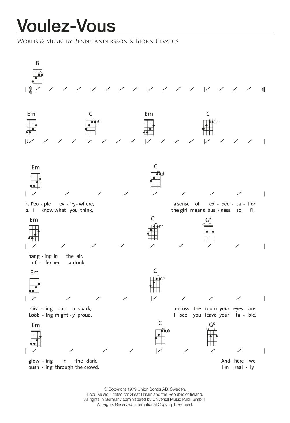 Voulez-Vous Sheet Music