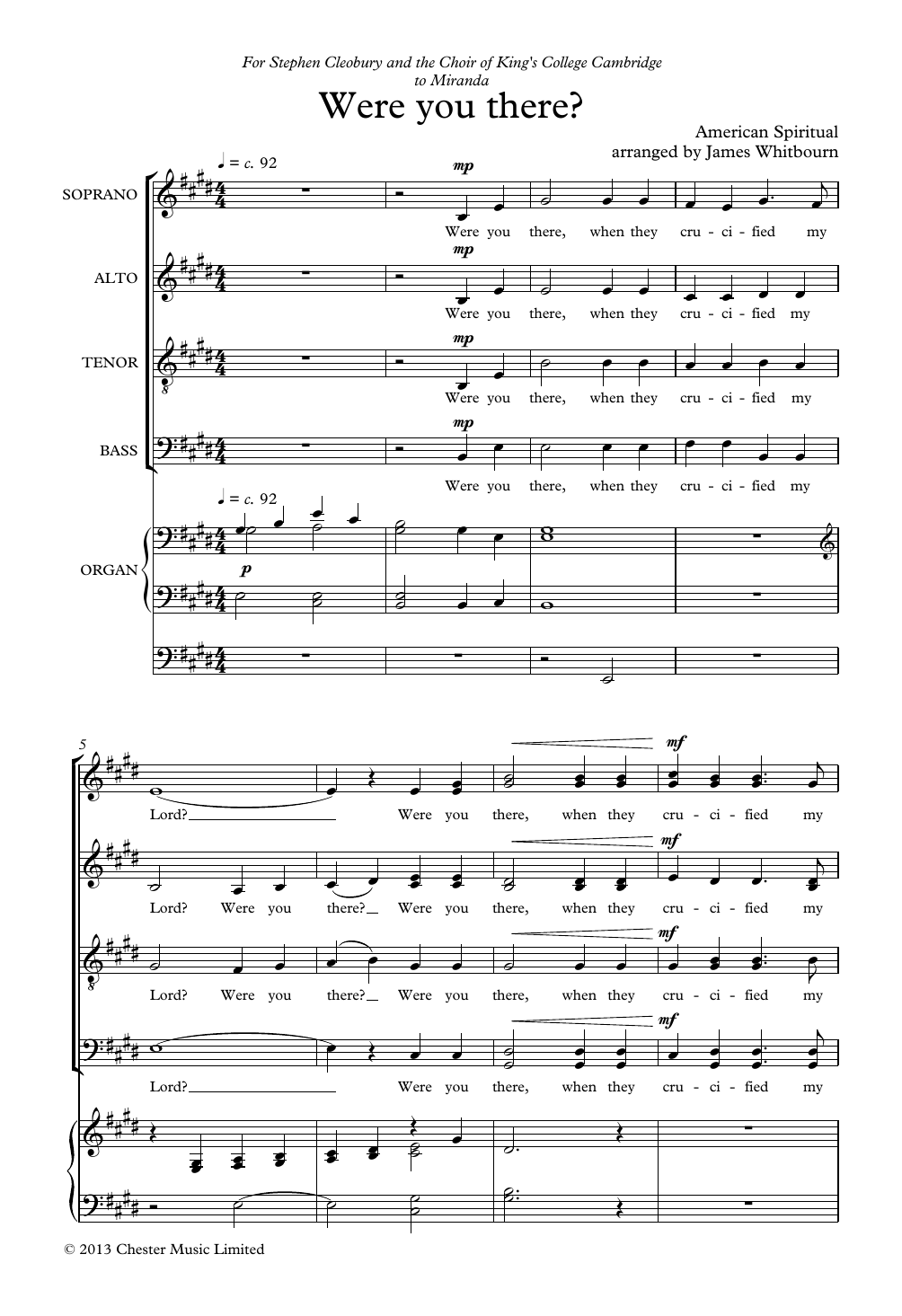Were You There? Sheet Music