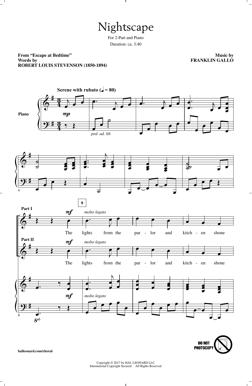 Nightscape Sheet Music