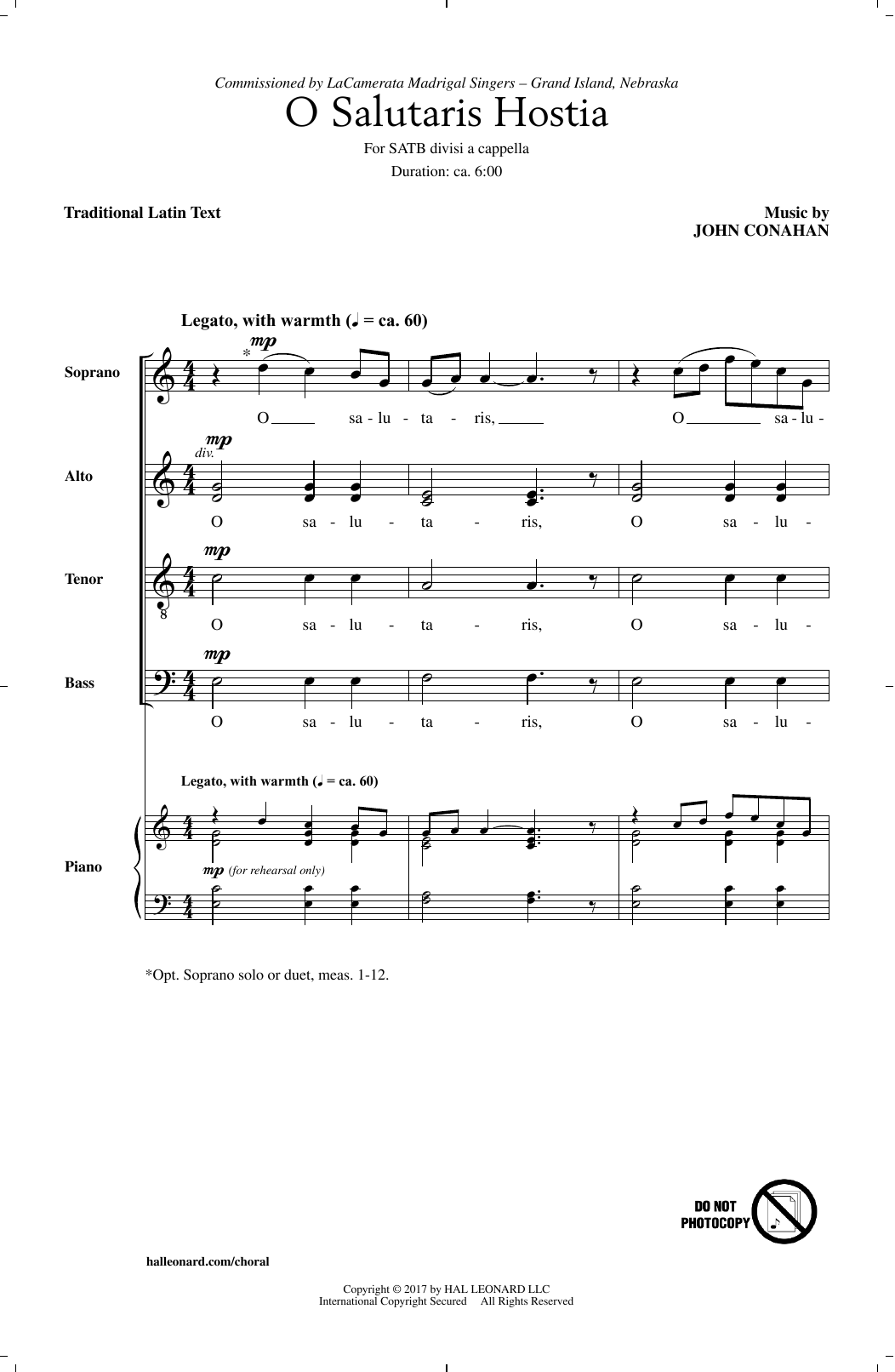 O Salutaris Hostia Sheet Music