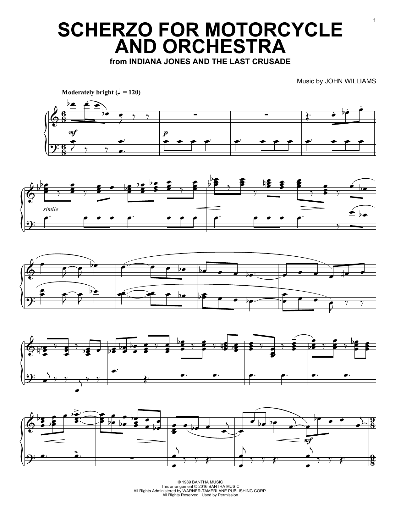 Scherzo For Motorcycle And Orchestra (Piano Solo)