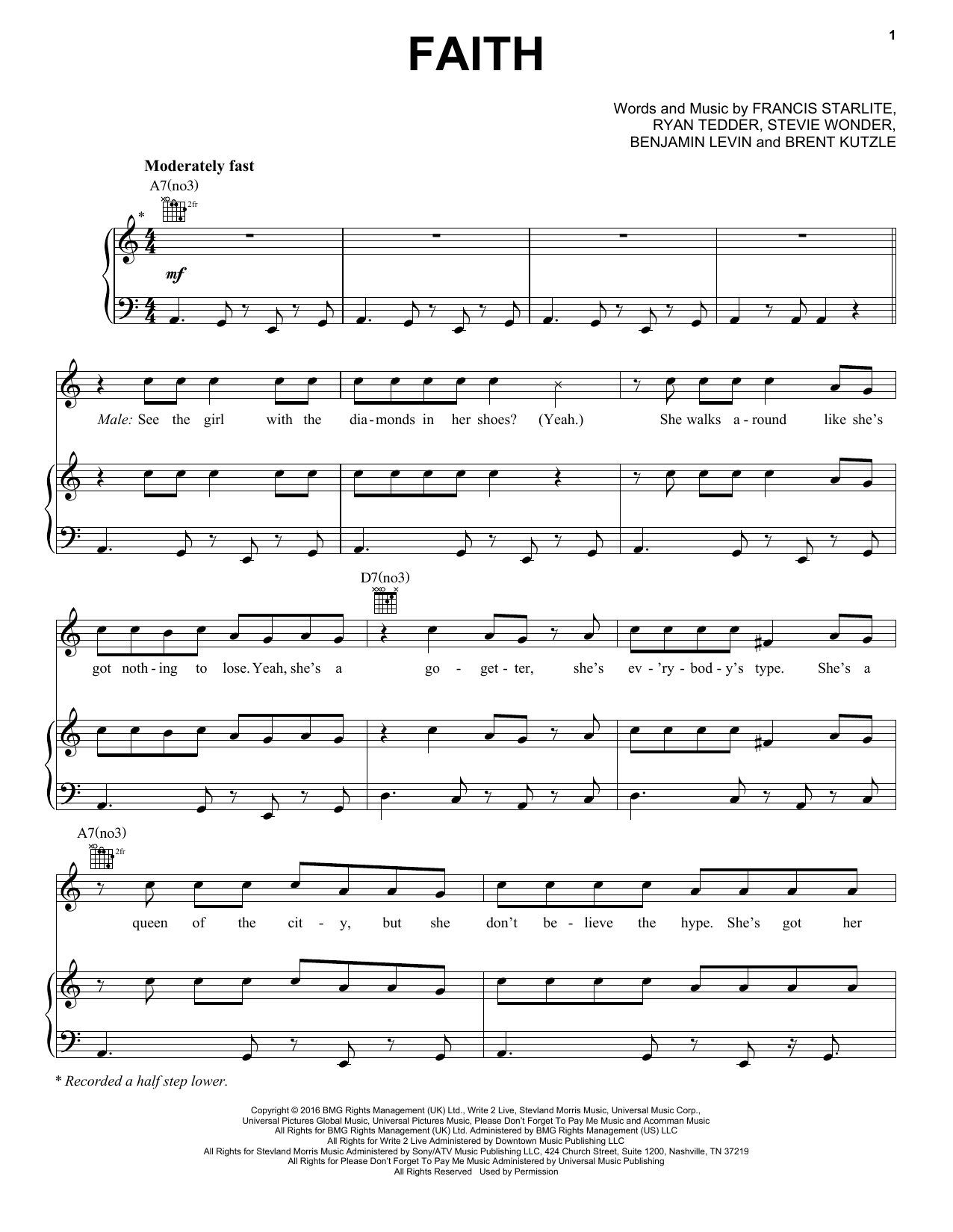 Faith (Piano, Vocal & Guitar (Right-Hand Melody))