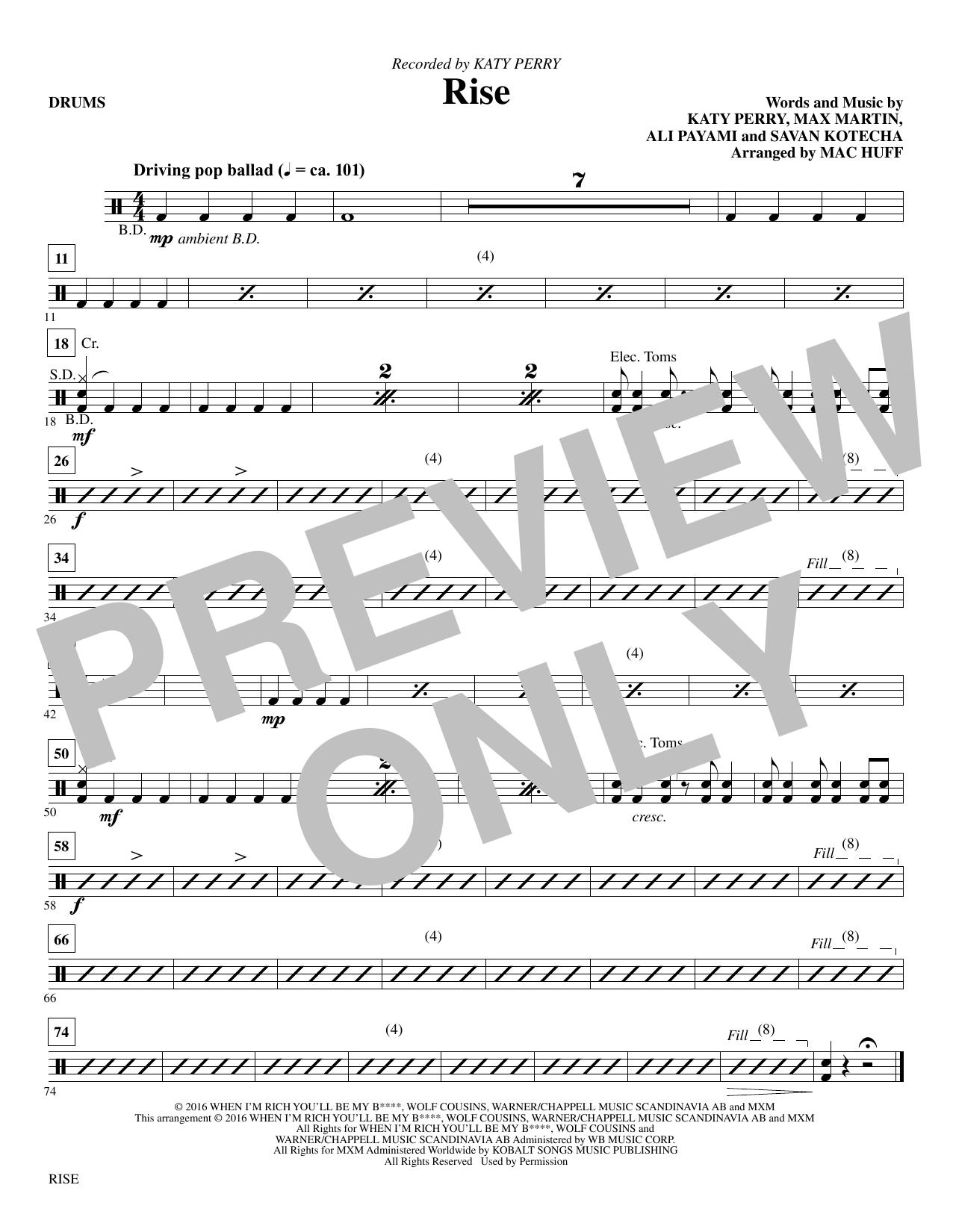 Rise - Drums Sheet Music