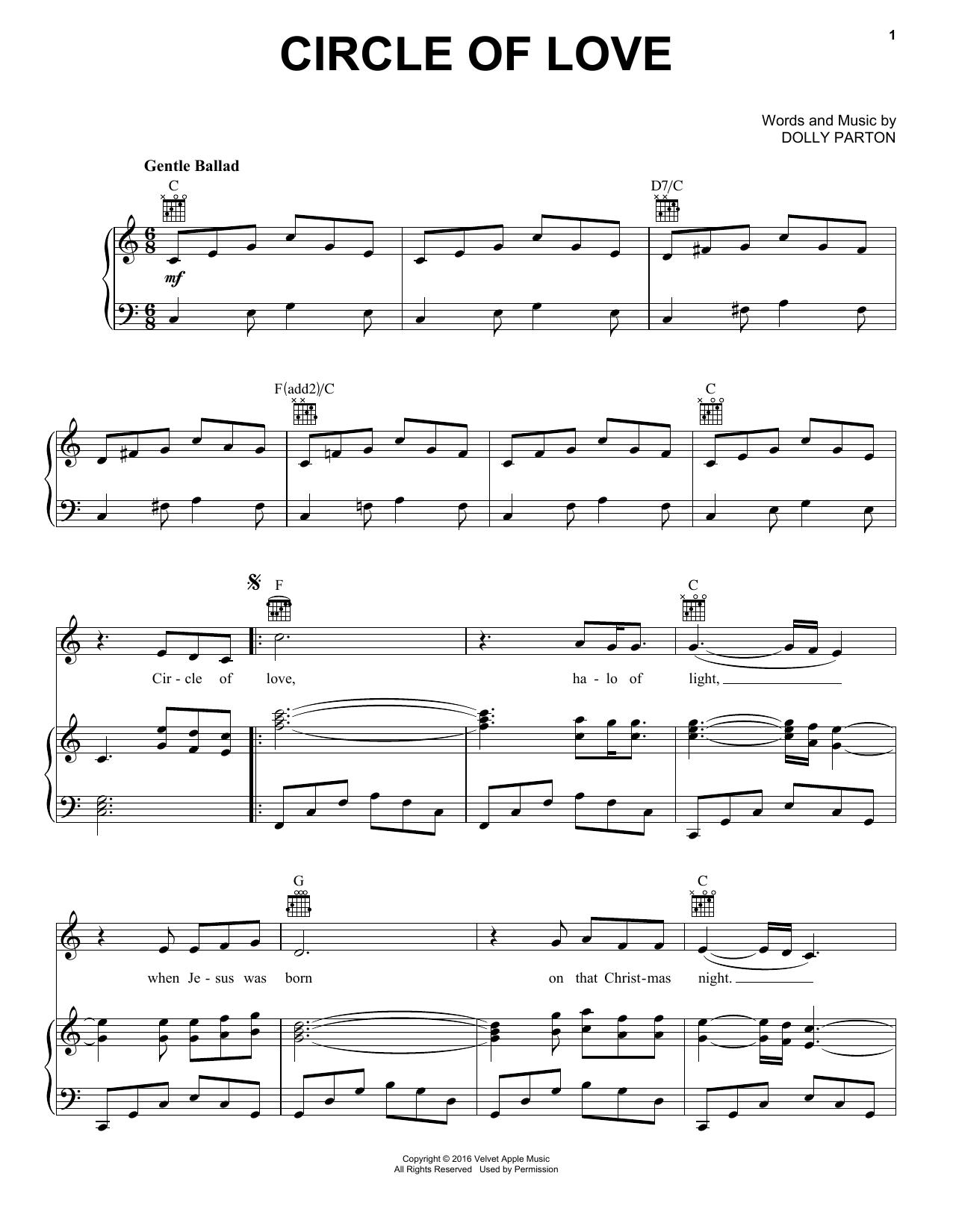 Circle Of Love (Piano, Vocal & Guitar (Right-Hand Melody))