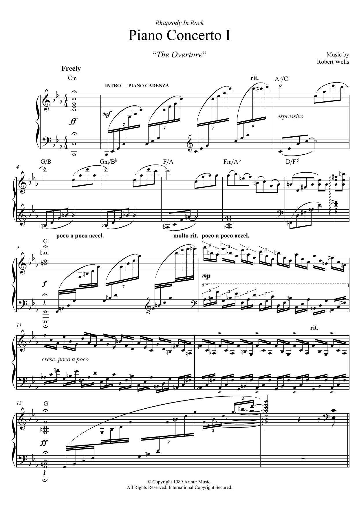 Piano Concerto: I. The Overture Sheet Music