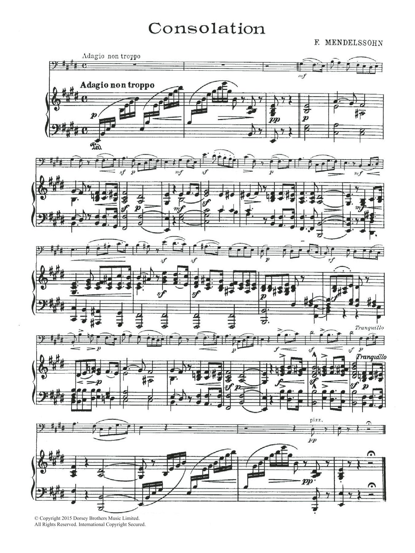 Consolation Sheet Music