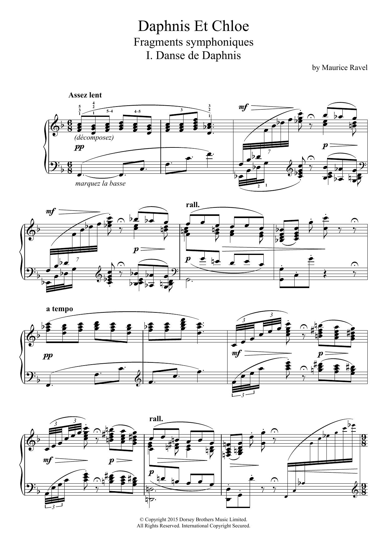 Daphnis Et Chloé - I. Danse De Daphnis Sheet Music