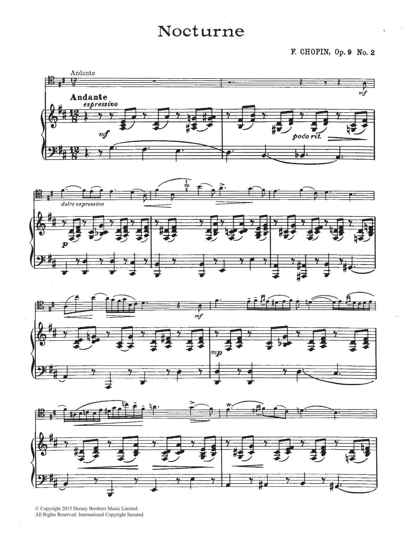 Nocturne in E Flat Major, Op.9, No.2 Sheet Music