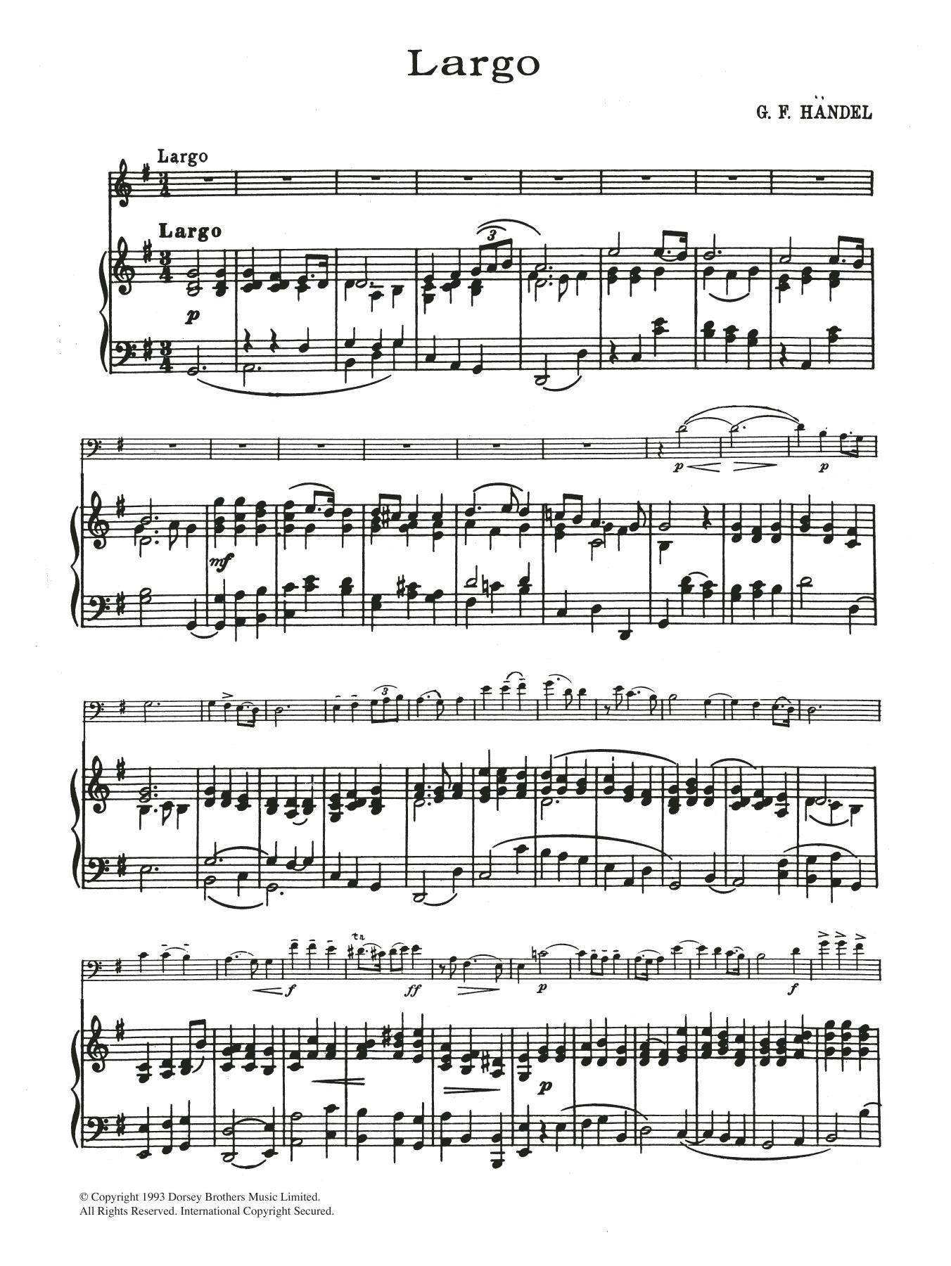 Largo In G Sheet Music