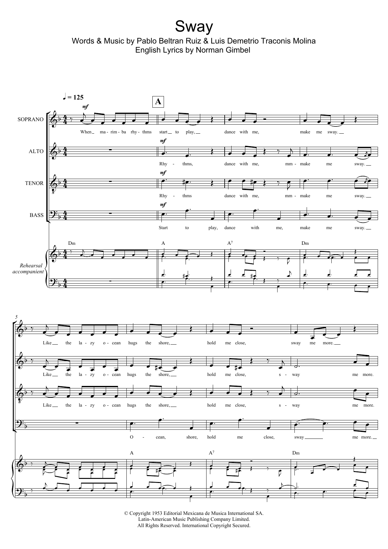 Sway (Quien Sera) (arr. Gitika Partington) Sheet Music