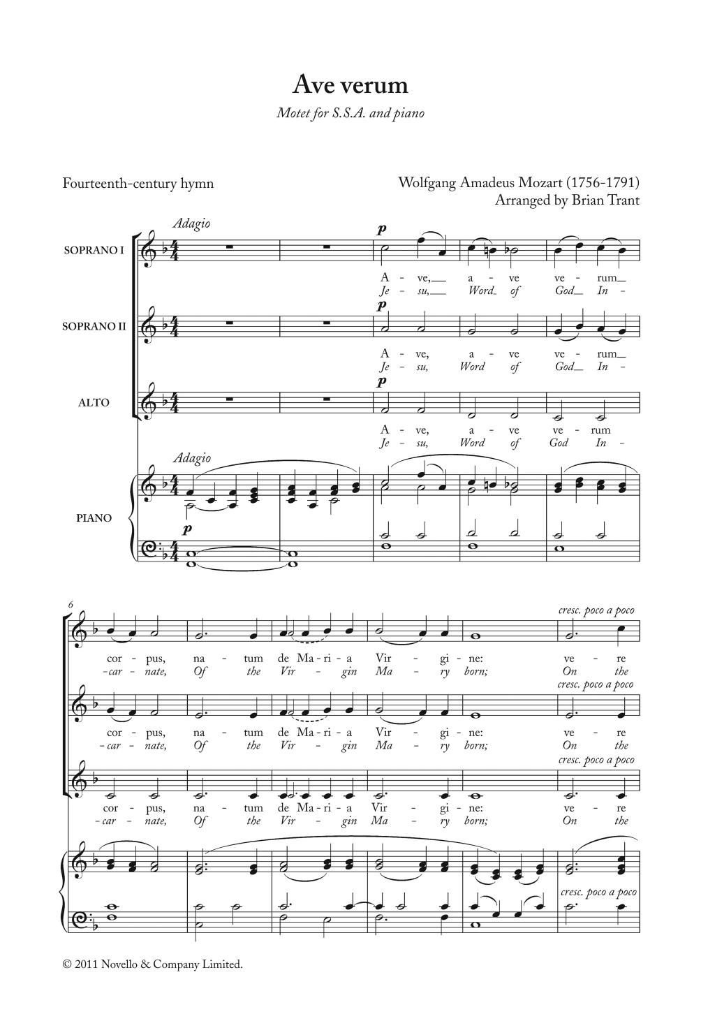 Ave Verum Sheet Music