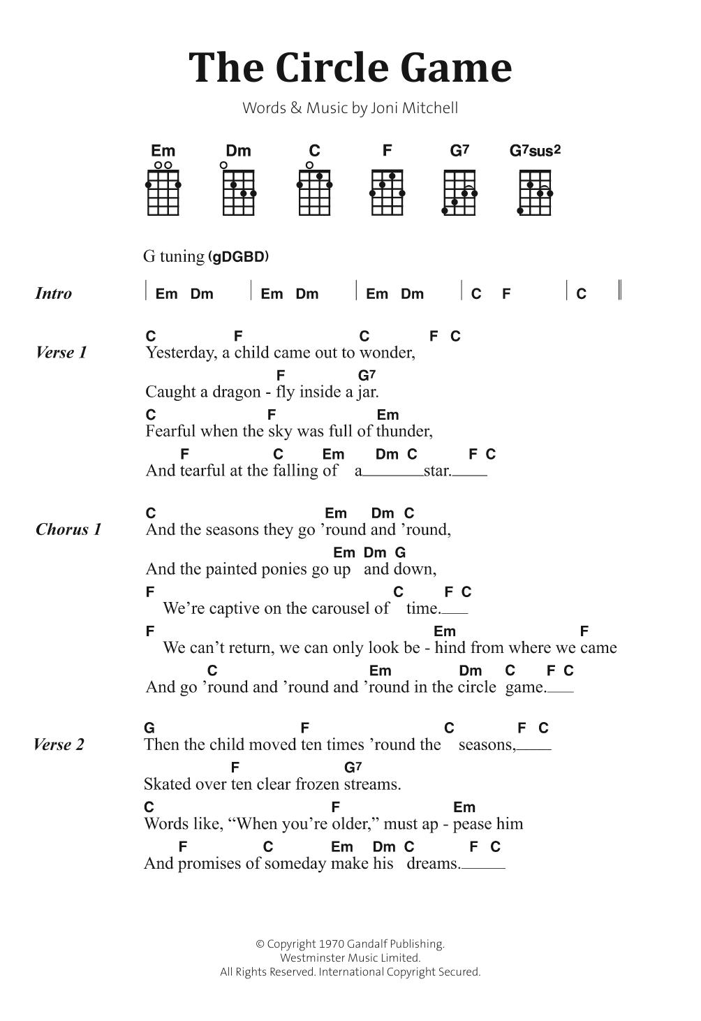 The Circle Game Sheet Music