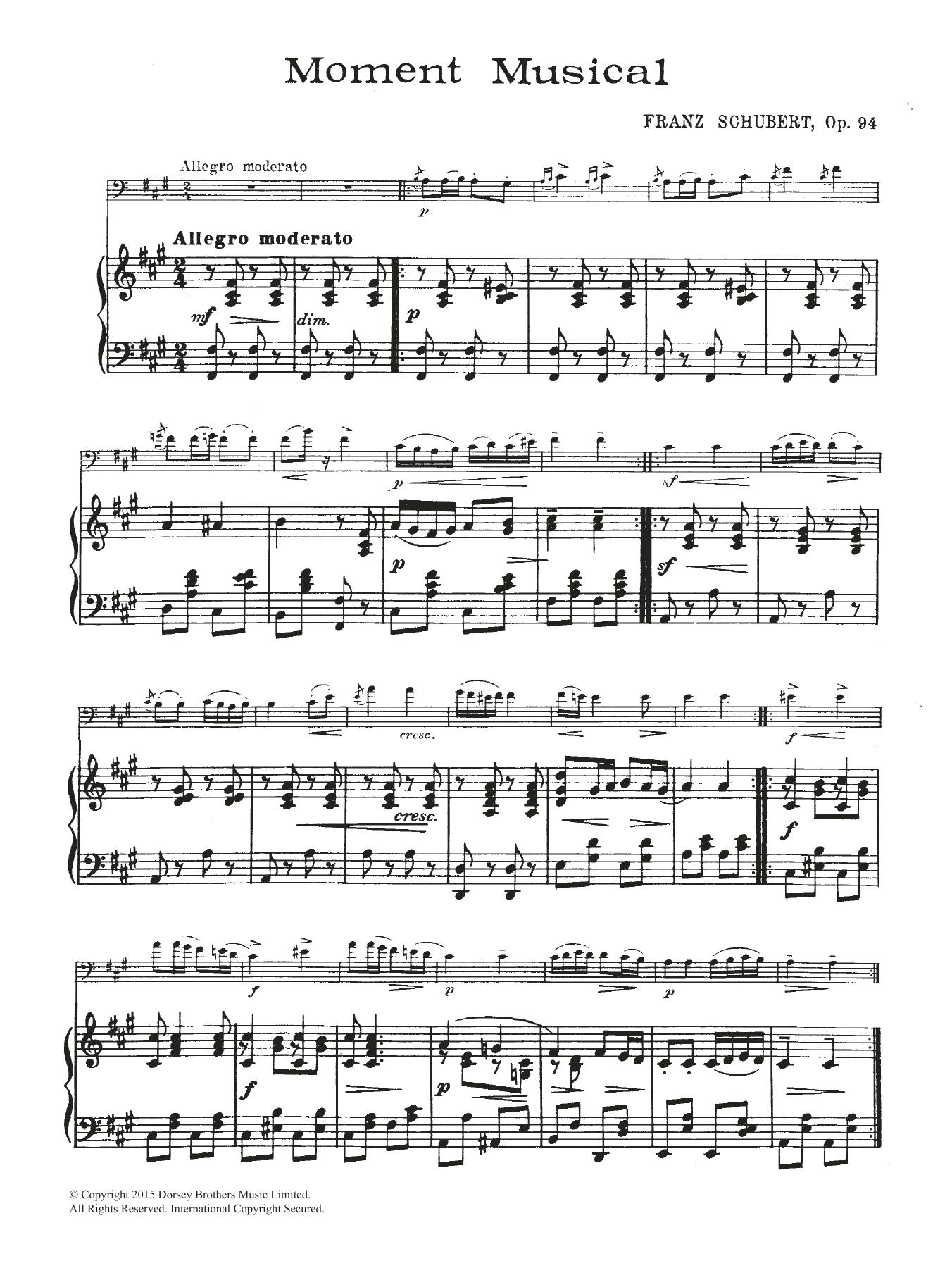 Moment Musical Sheet Music