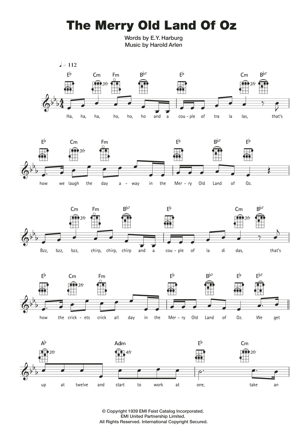 The Merry Old Land Of Oz Sheet Music