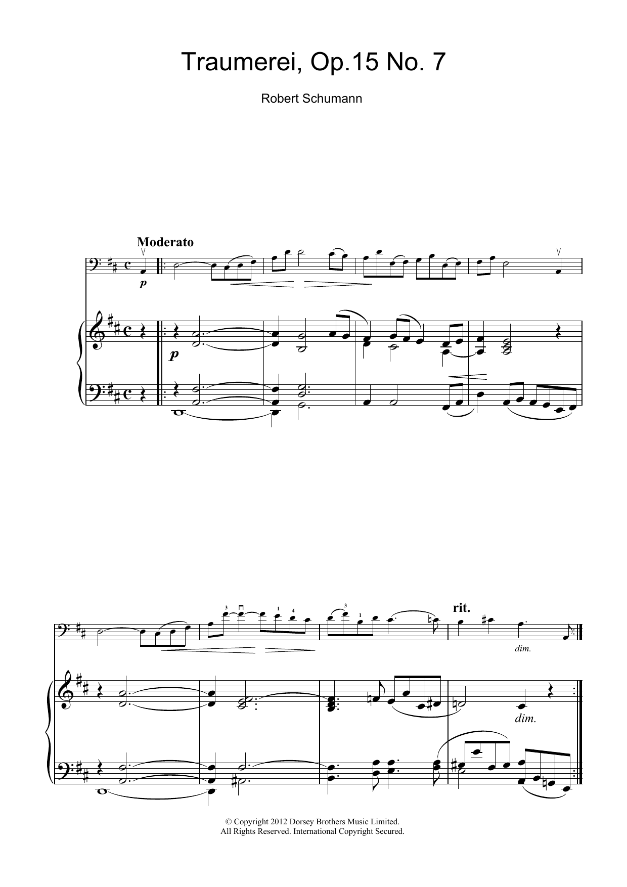 Traumerei Op.15 No.7 Partition Digitale