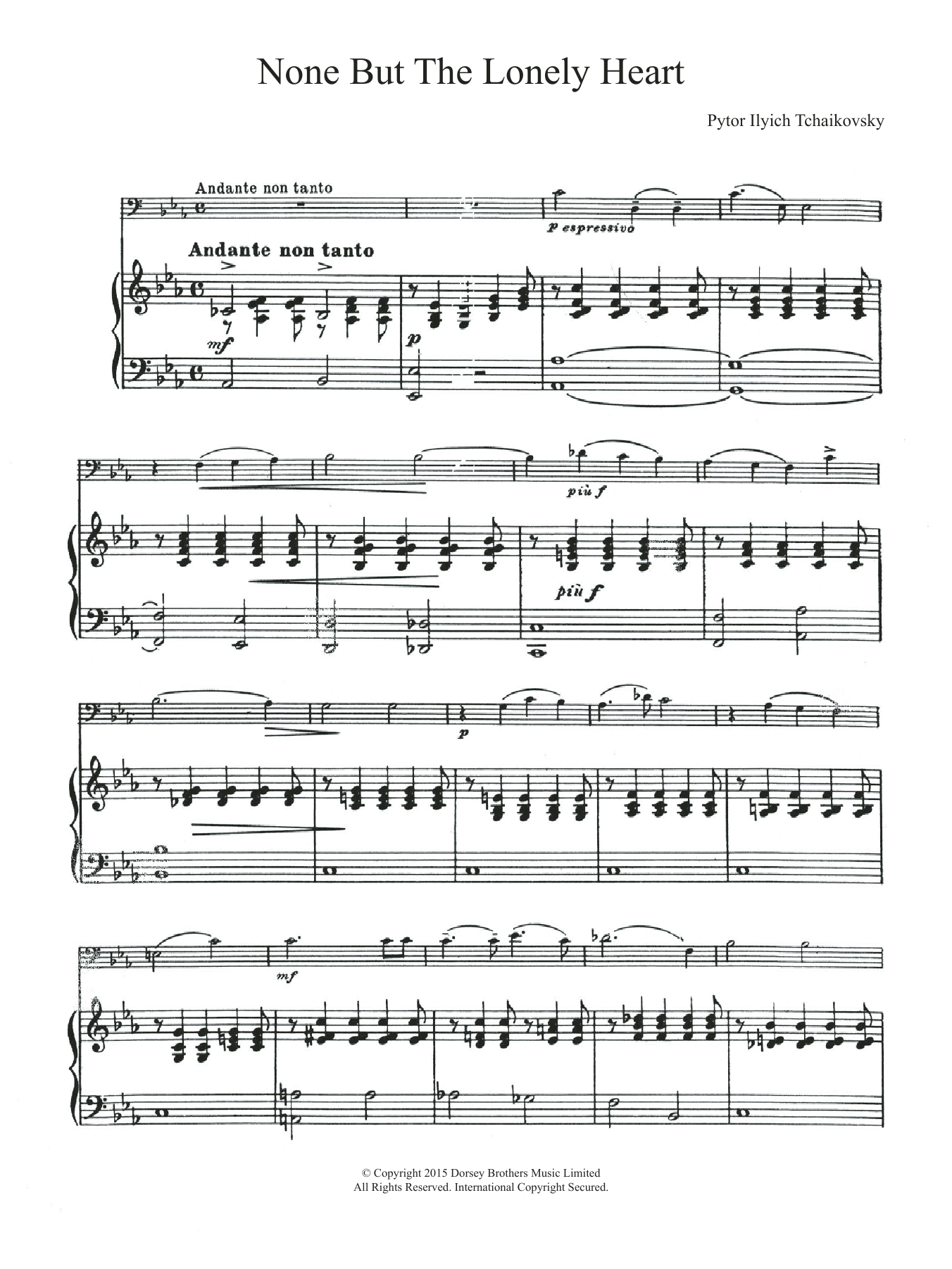 None But The Lonely Heart (Mignon's Song) Sheet Music