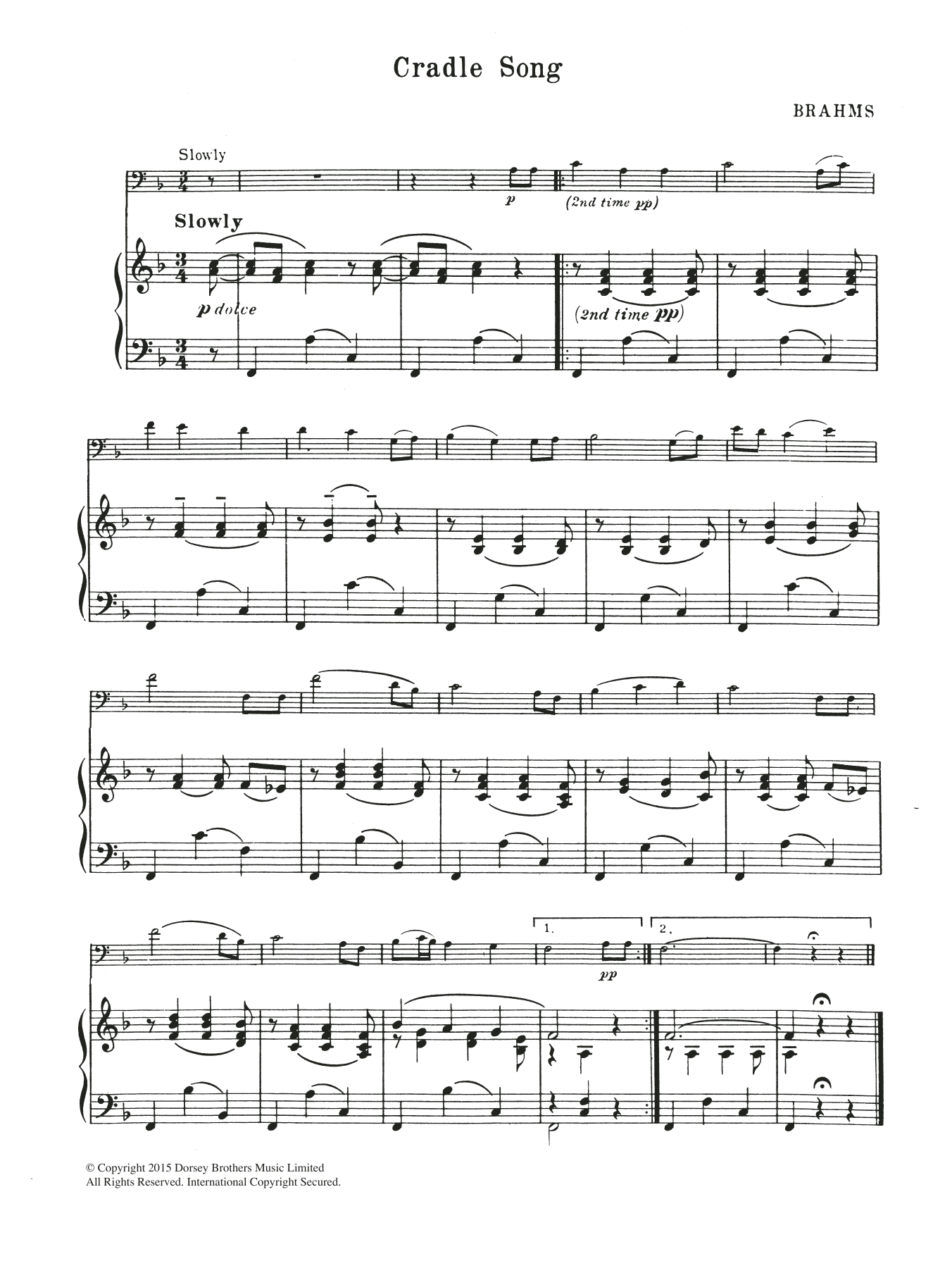 Cradle Song Sheet Music