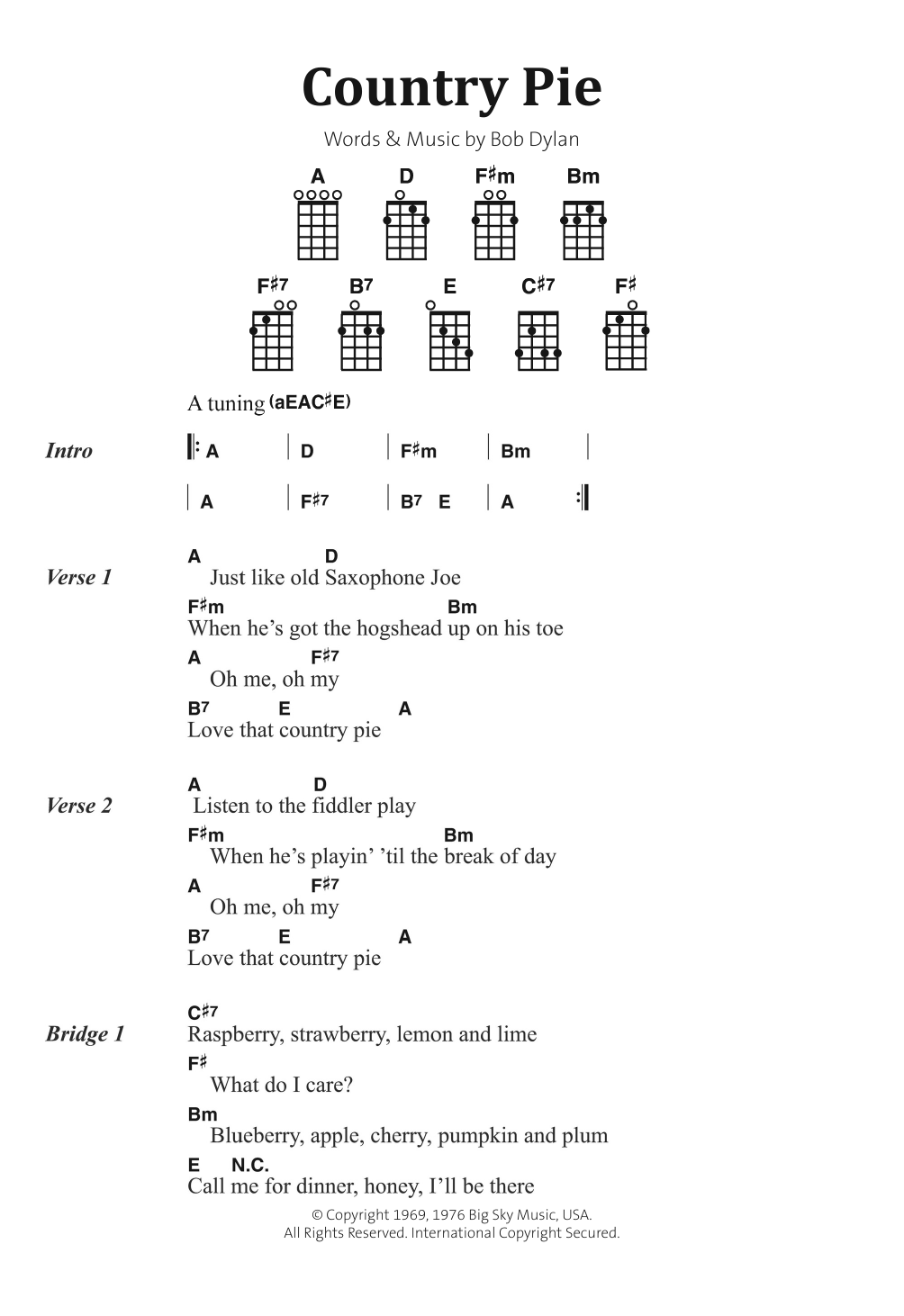 Country Pie Sheet Music