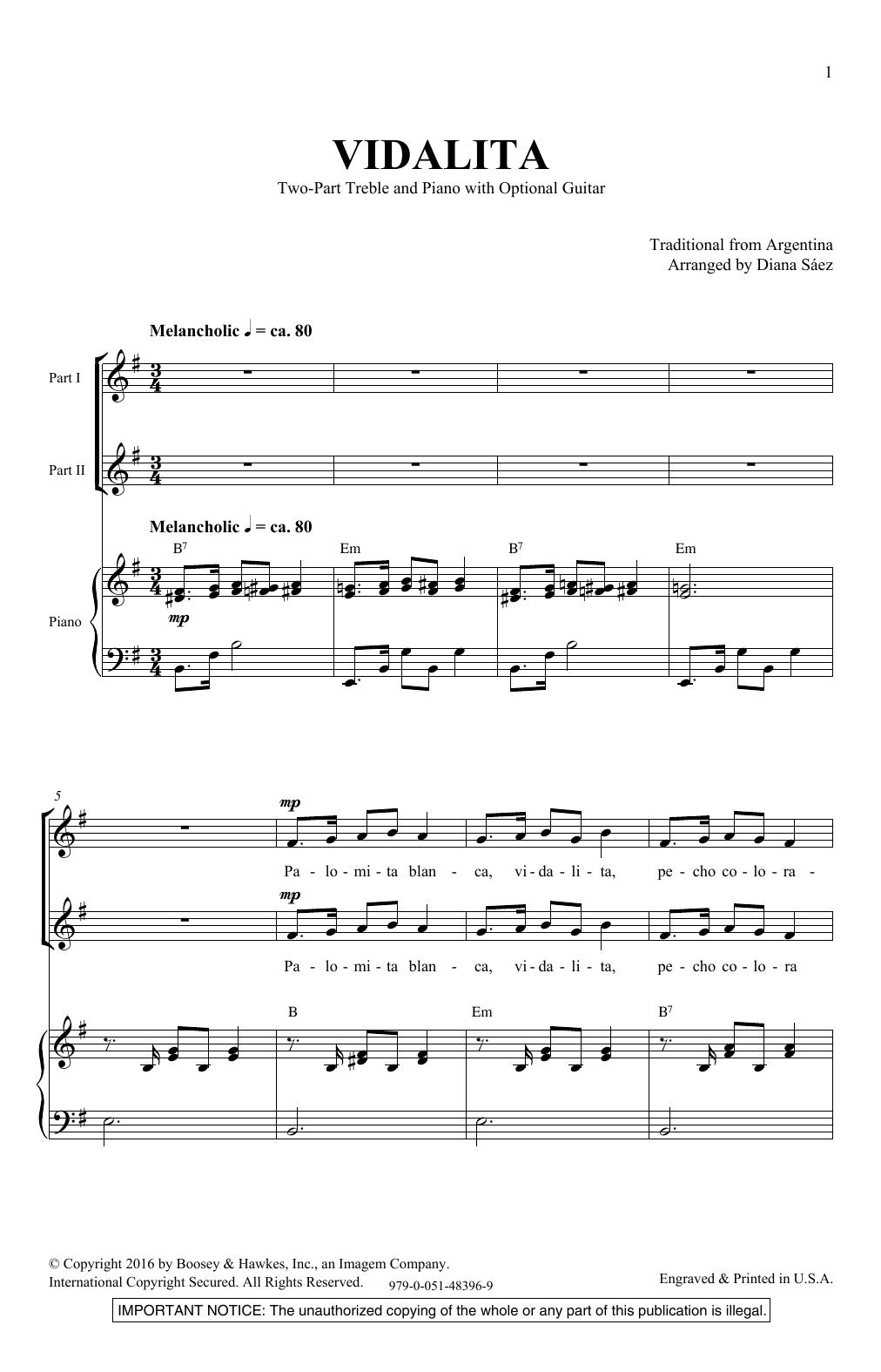 Vidalita (2-Part Choir)