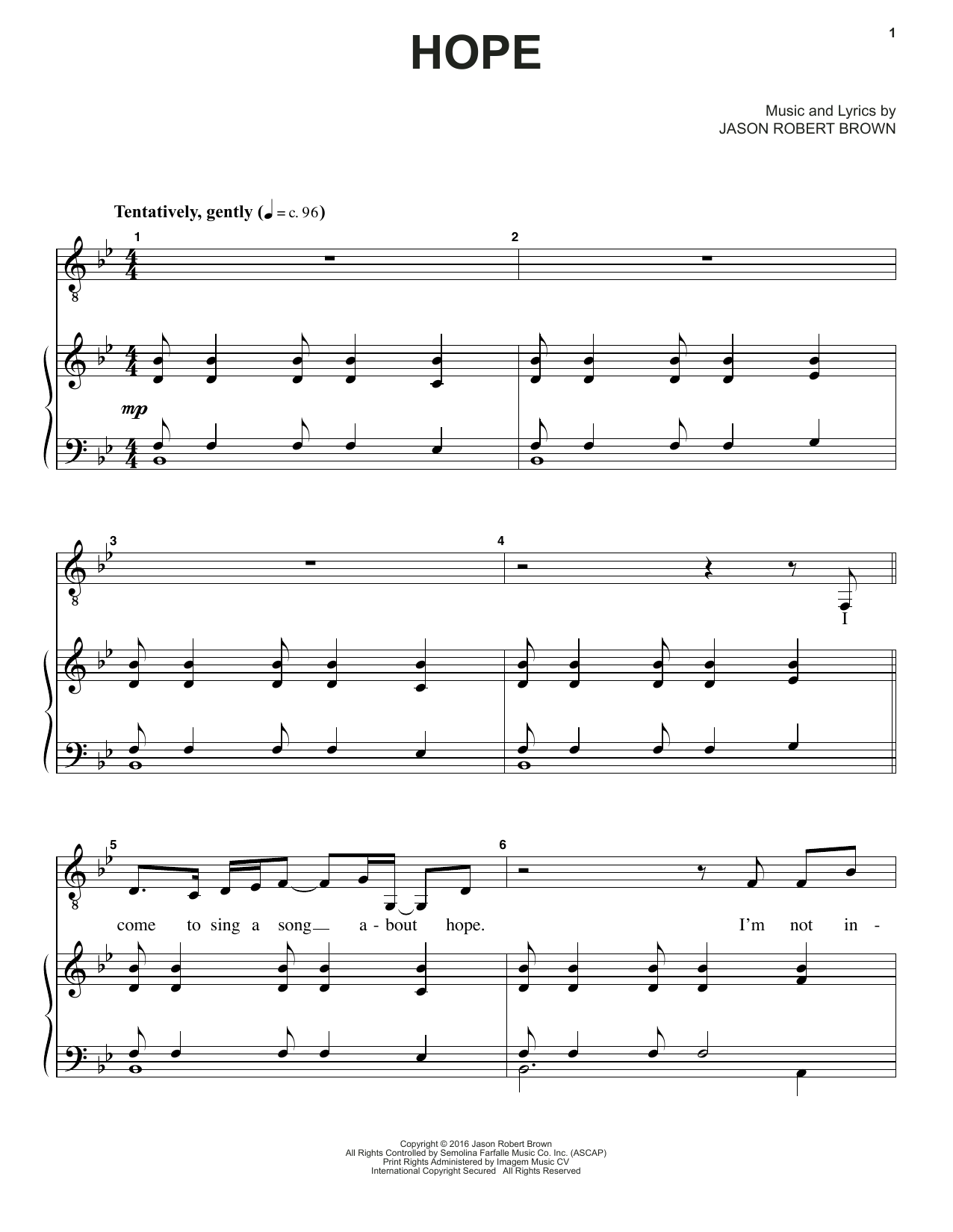 Hope (from How We React And How We Recover) Sheet Music