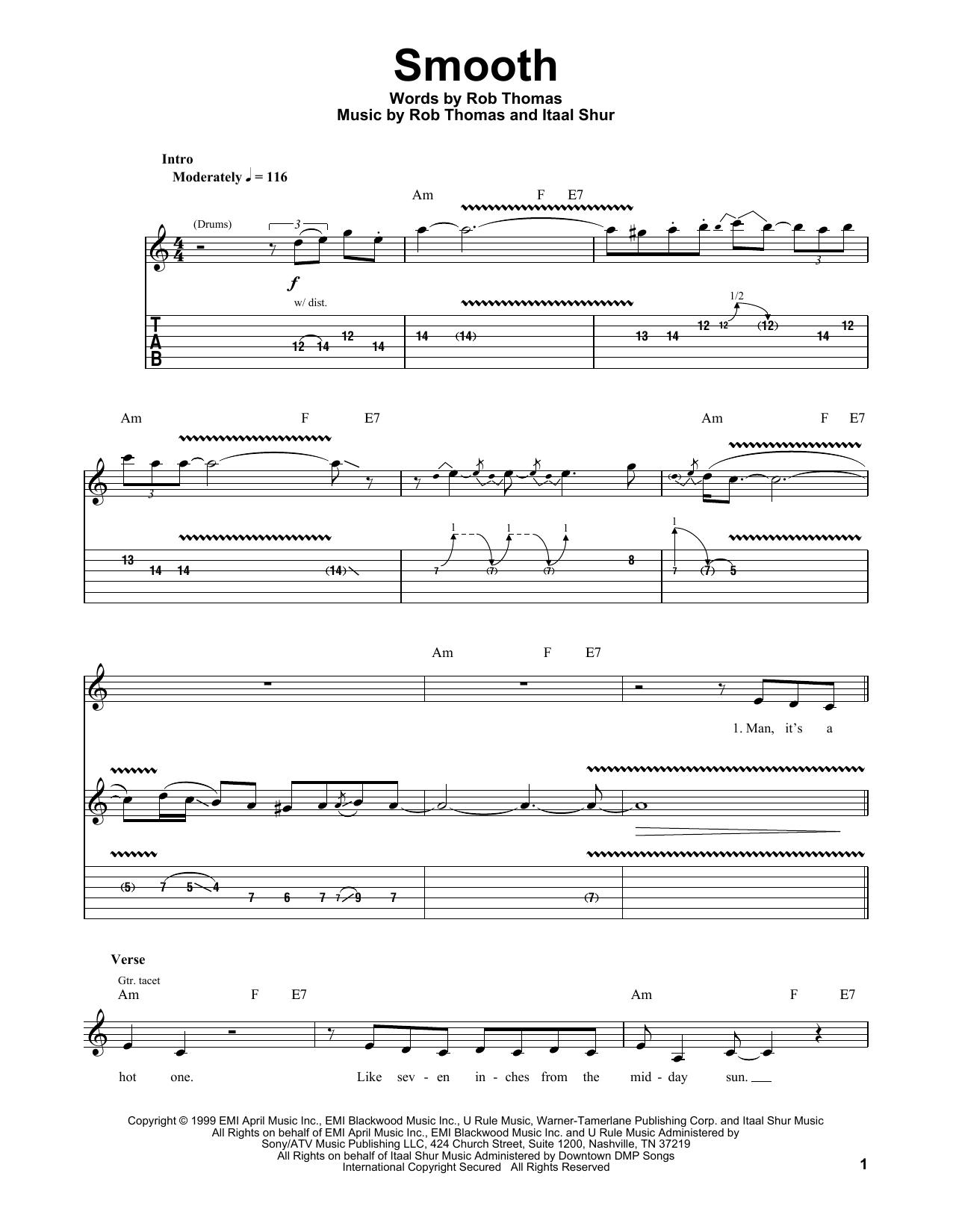 Smooth Sheet Music