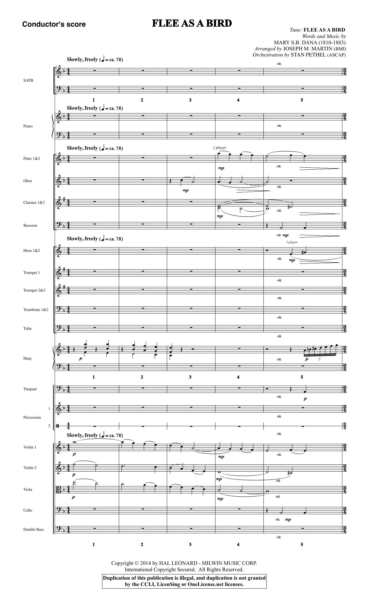 Flee As a Bird - Score Sheet Music