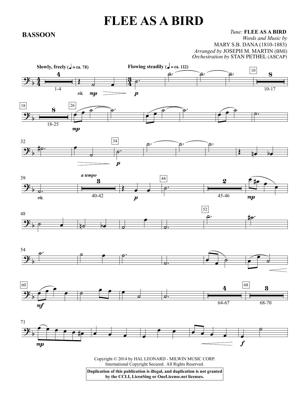 Flee As a Bird - Bassoon Sheet Music