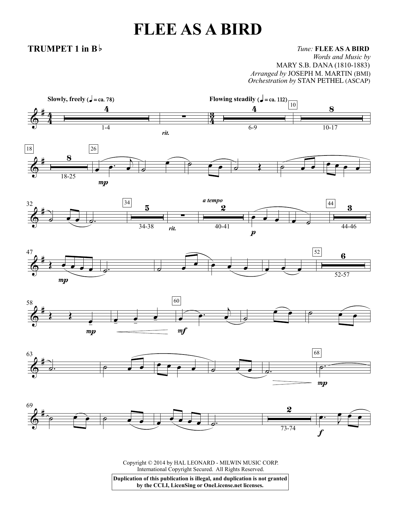 Flee As a Bird - Bb Trumpet 1 Sheet Music