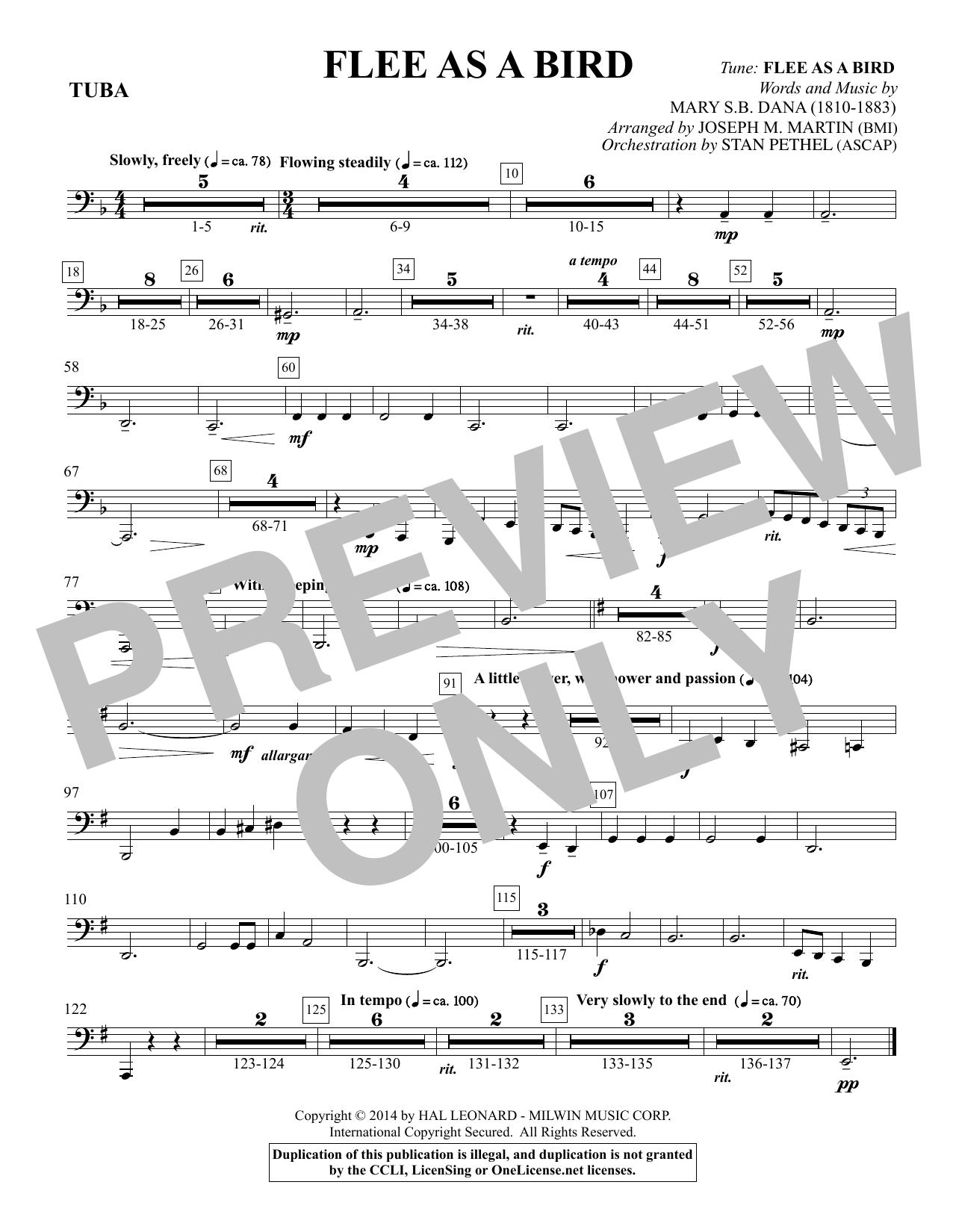 Flee As a Bird - Tuba Sheet Music