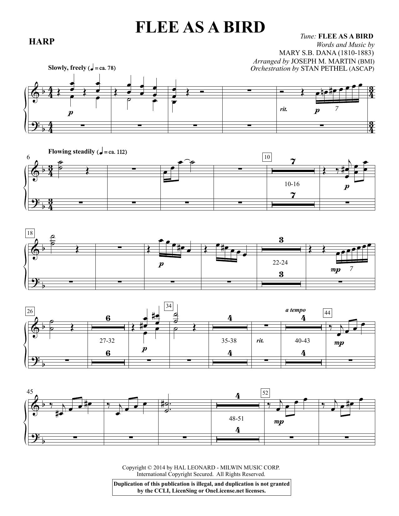 Flee As a Bird - Harp Sheet Music