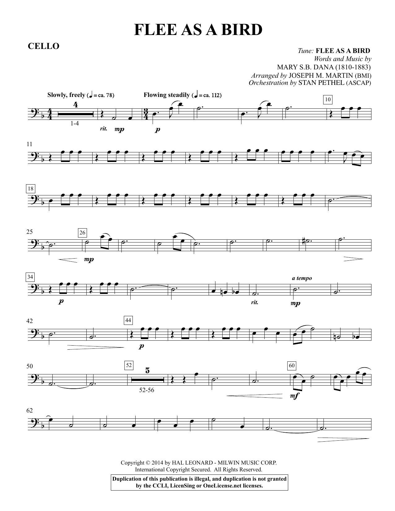 Flee As a Bird - Cello Sheet Music