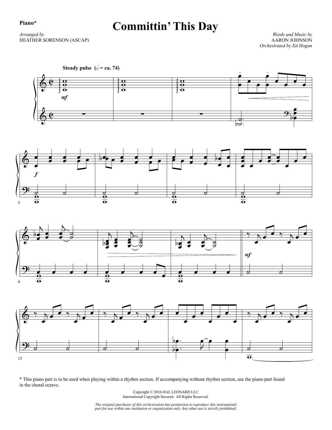 Committin' This Day - Piano (Choir Instrumental Pak)