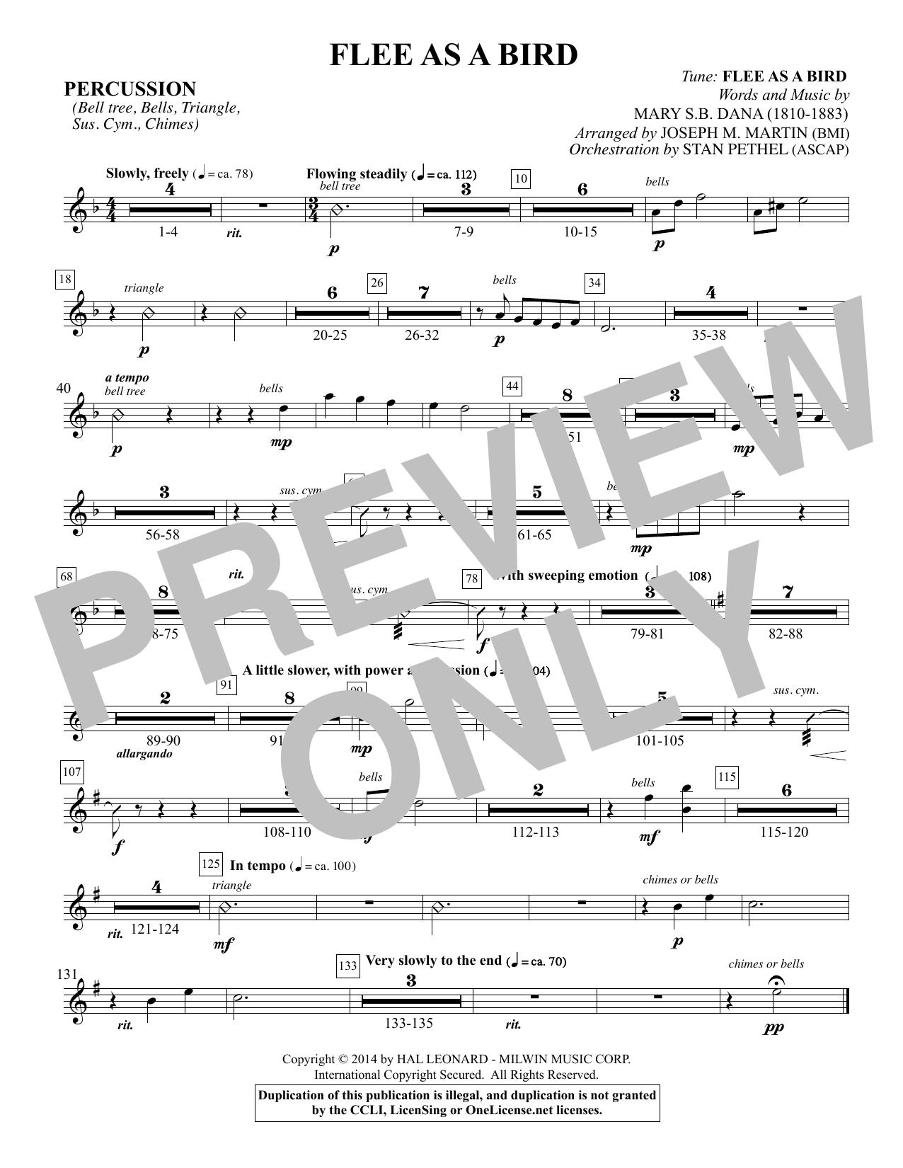 Flee As a Bird - Percussion Sheet Music