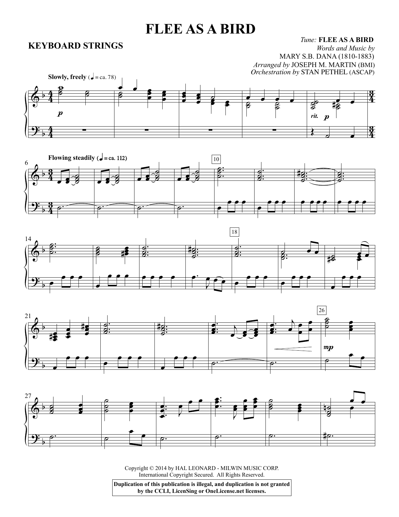 Flee As a Bird - Keyboard String Reduction Sheet Music