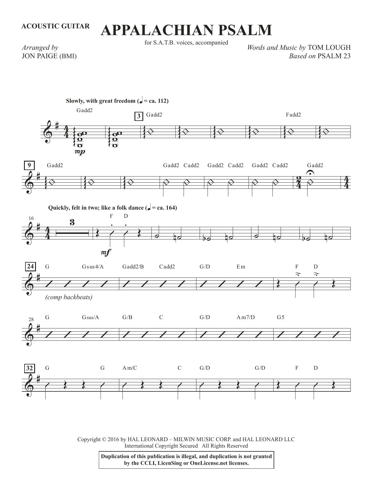 Appalachian Psalm - Acoustic Guitar (Choir Instrumental Pak)
