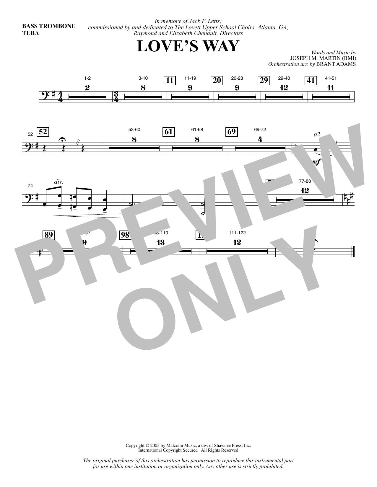 Love's Way - Bass Trombone/Tuba (Choir Instrumental Pak)