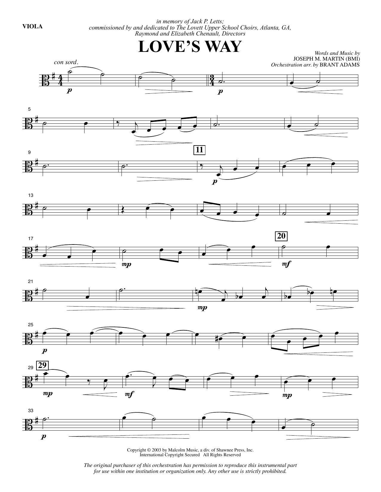 Love's Way - Viola Sheet Music
