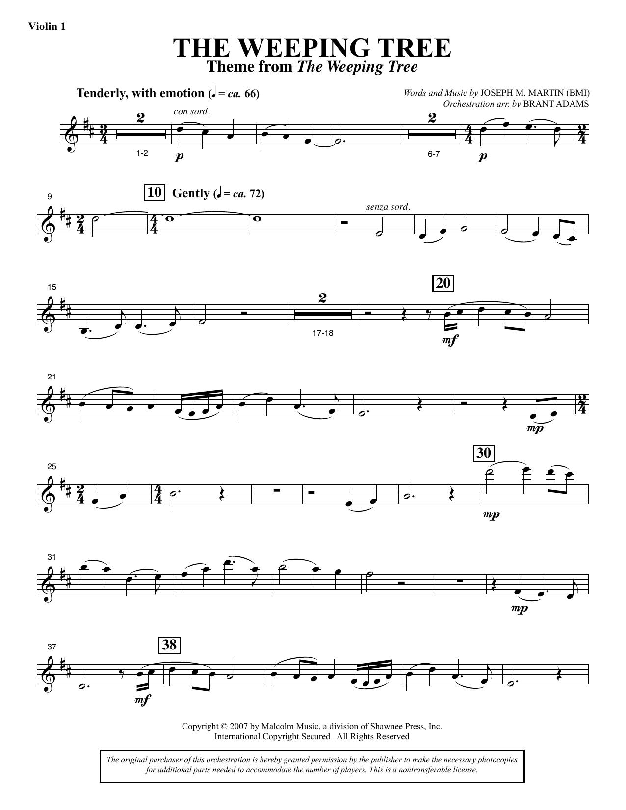 The Weeping Tree - Violin 1 Sheet Music
