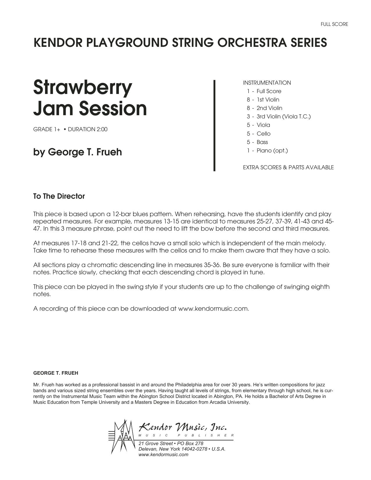 Strawberry Jam Session - Full Score Sheet Music