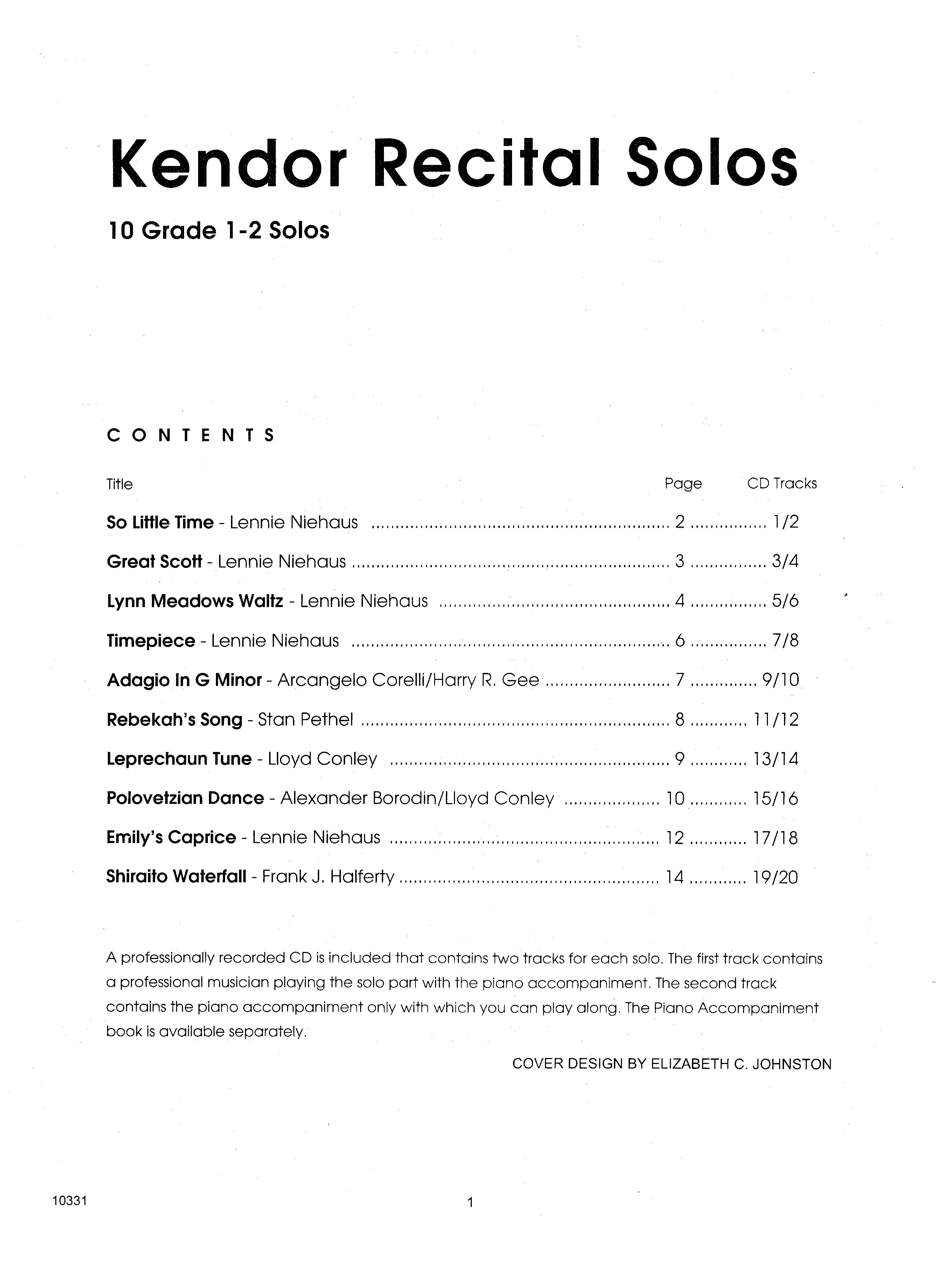 Kendor Recital Solos - Flute Sheet Music