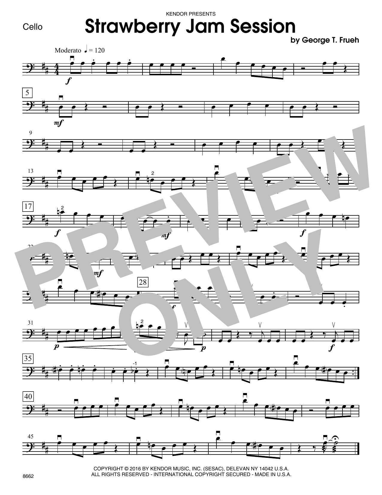 Strawberry Jam Session - Cello Sheet Music
