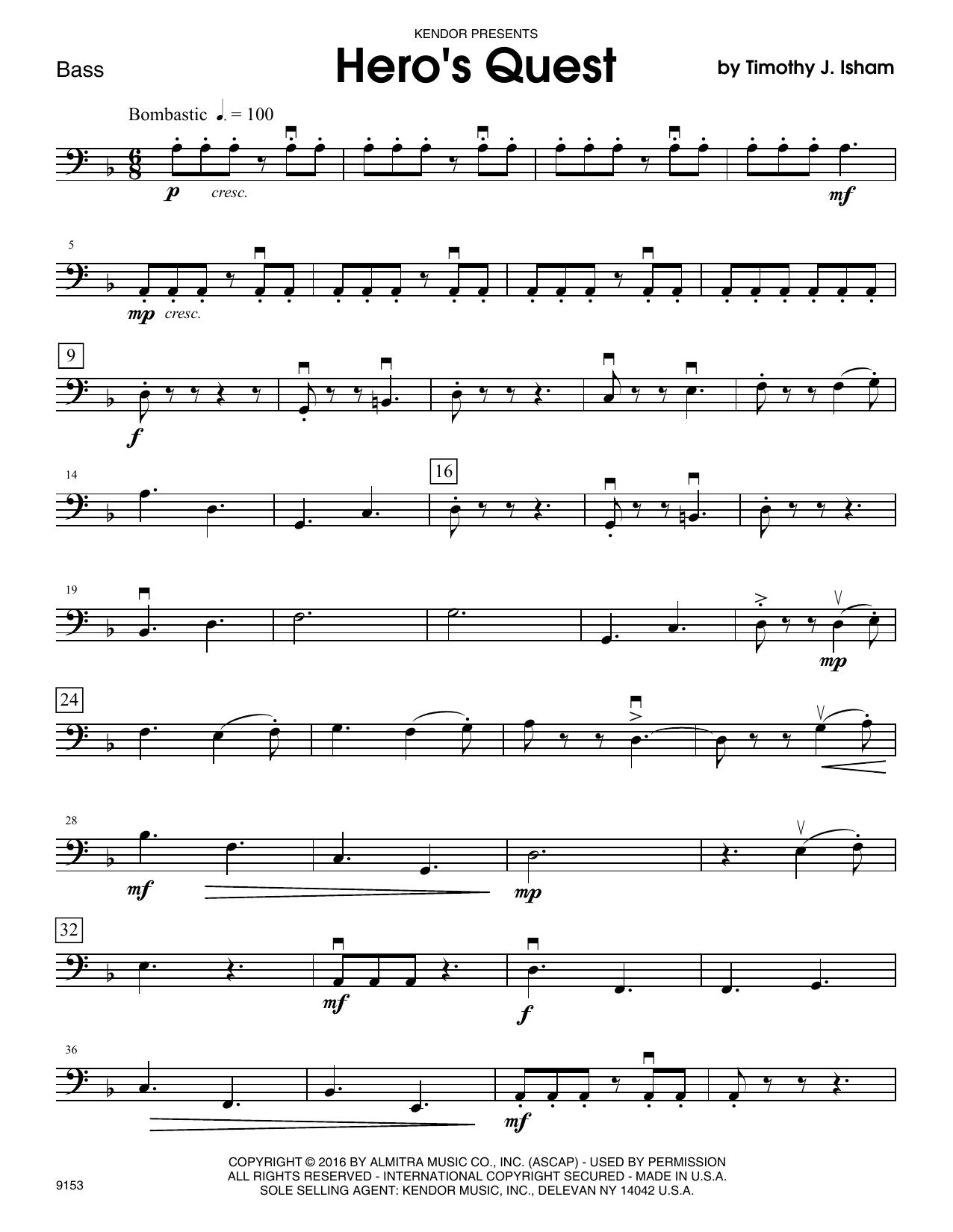 Hero's Quest - Bass Sheet Music