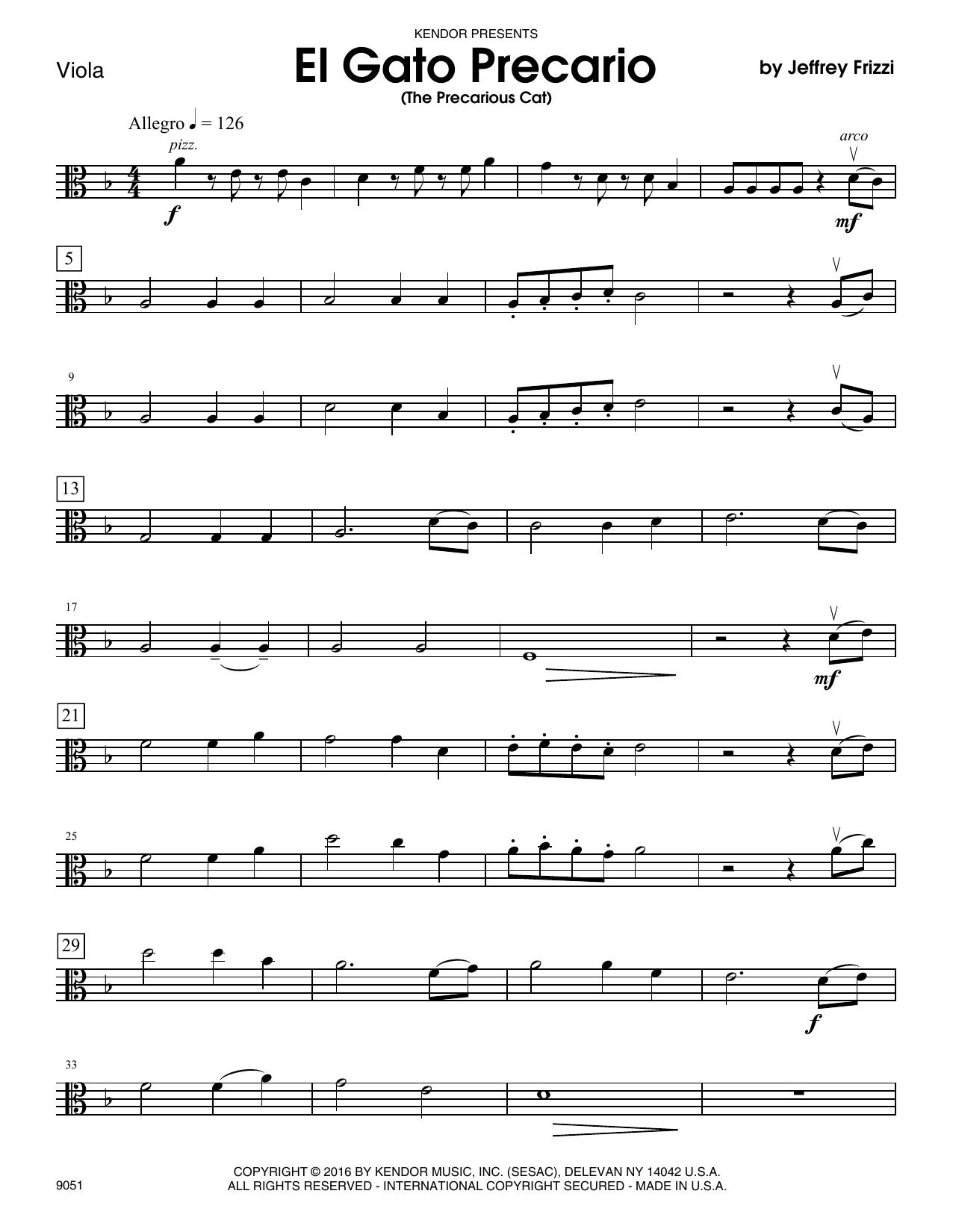 El Gato Precario (The Precarious Cat) - Viola Sheet Music