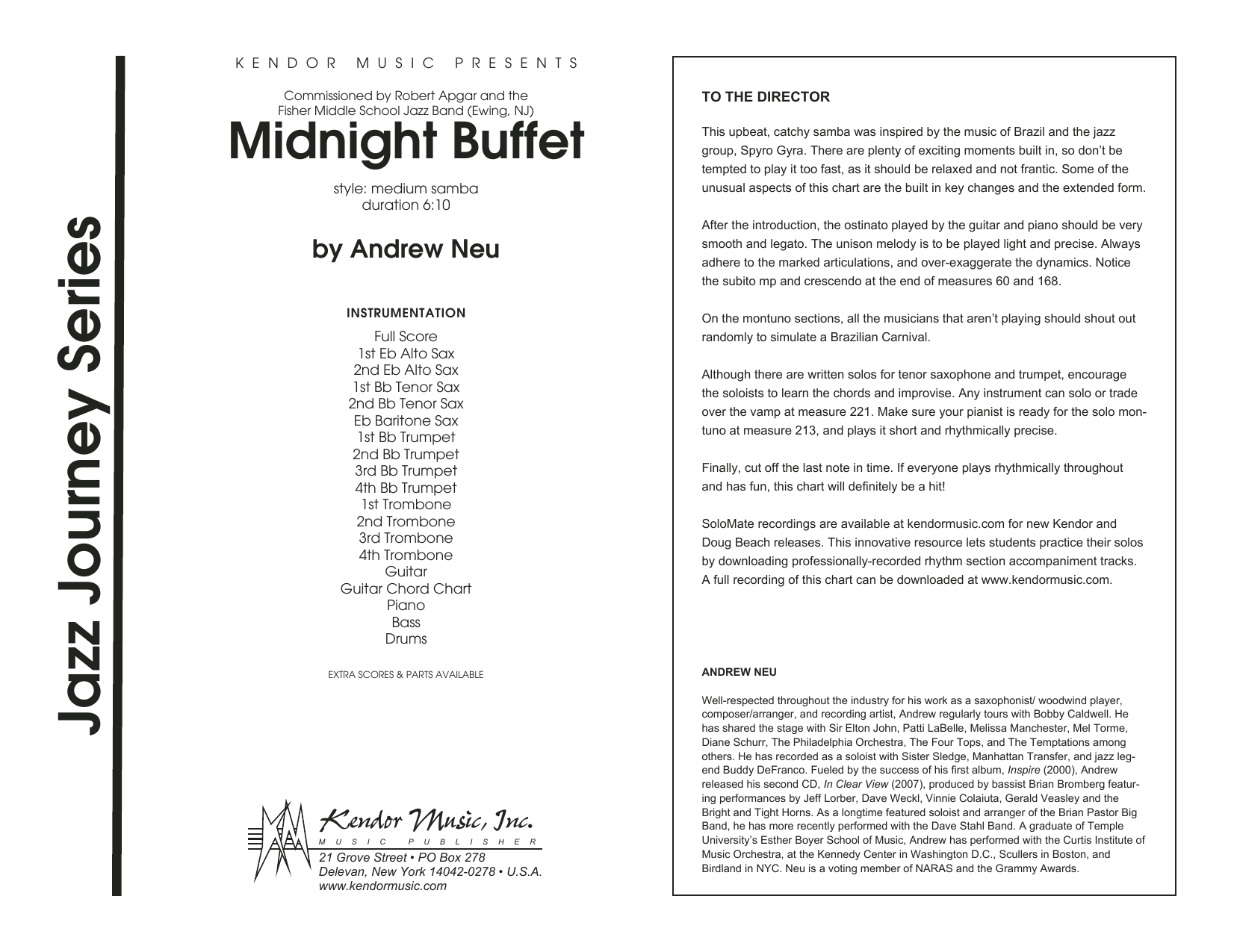 Midnight Buffet - Full Score Sheet Music