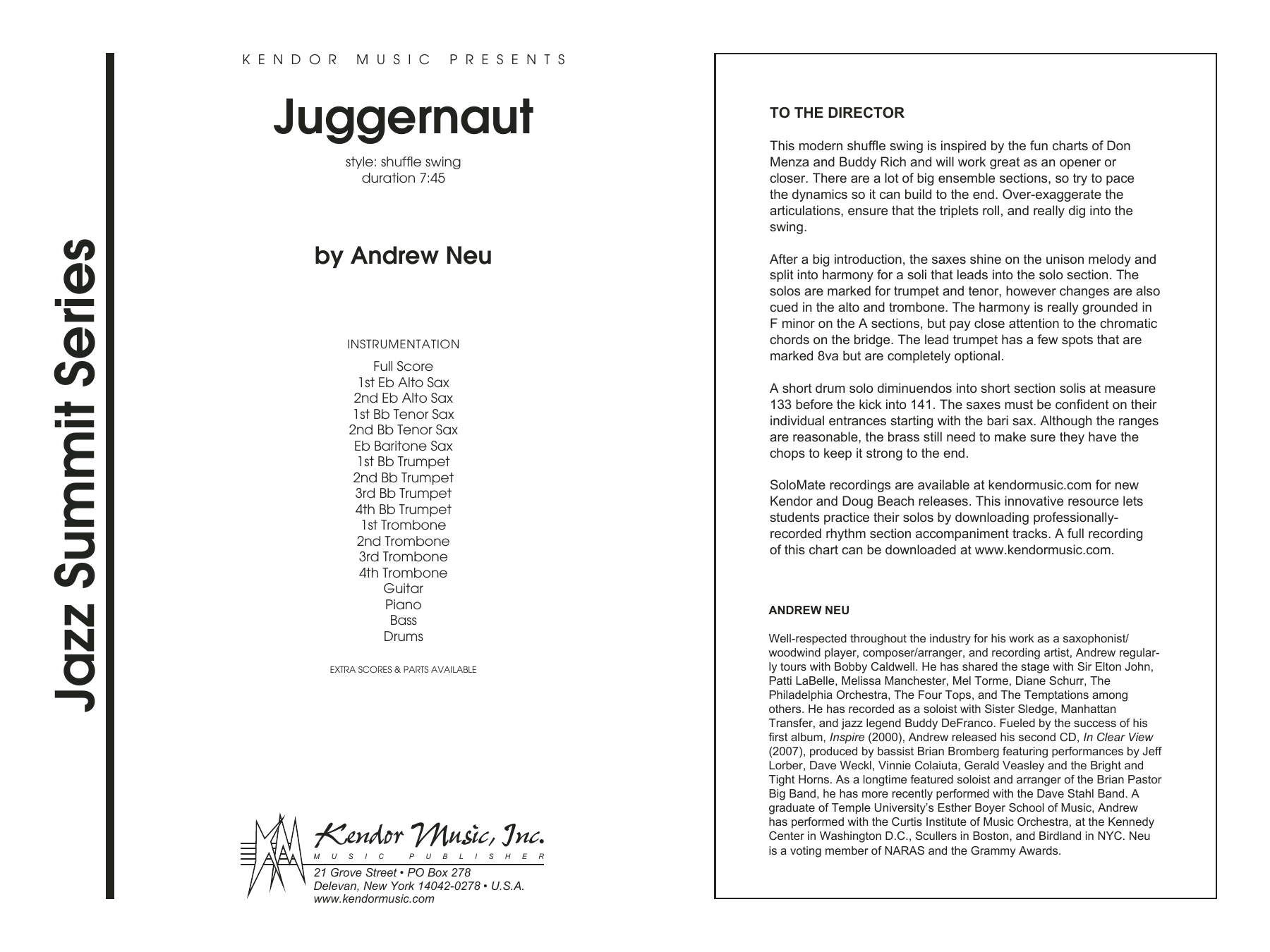 Juggernaut - Full Score Sheet Music