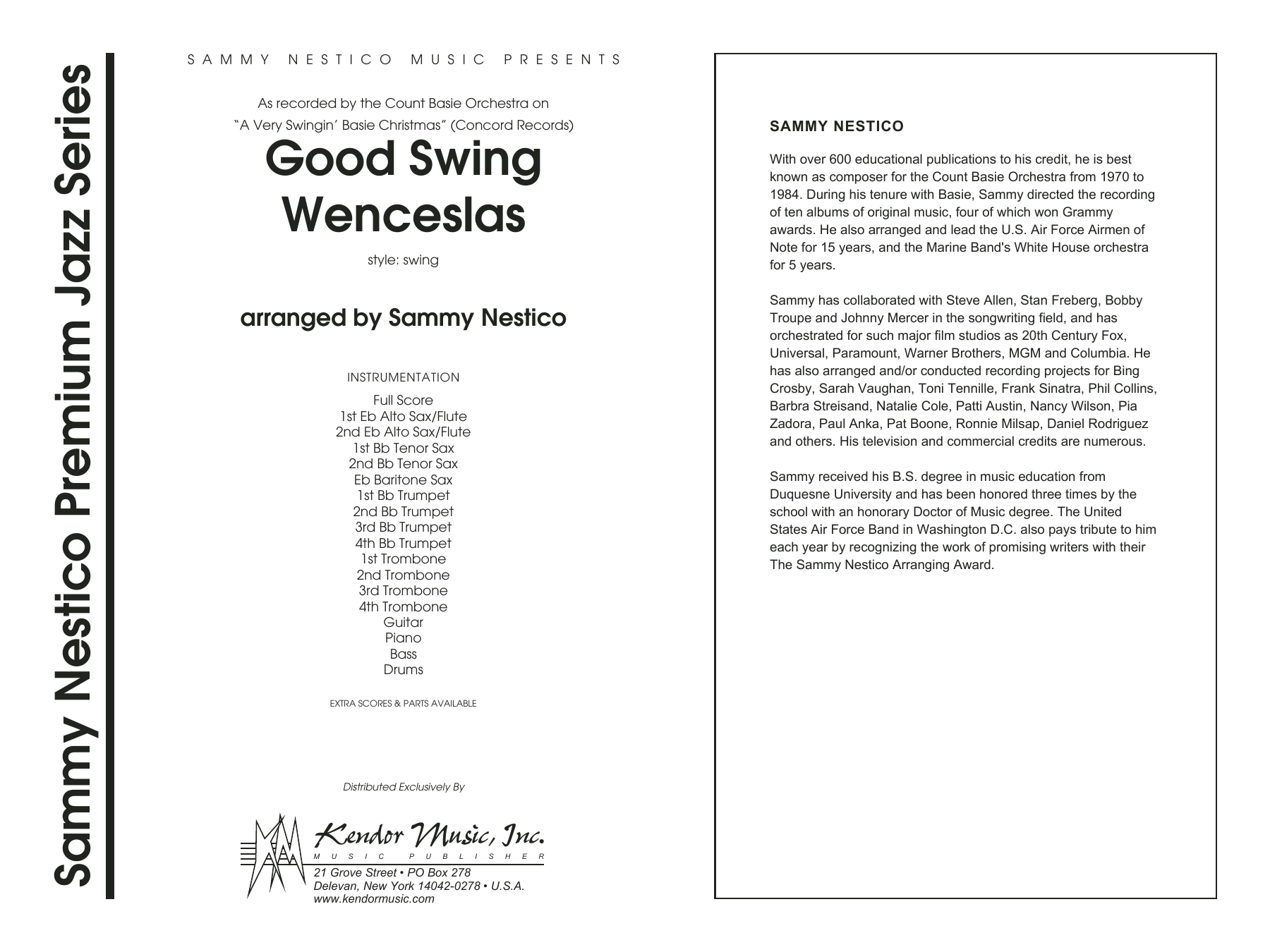 Good Swing Wenceslas (COMPLETE) sheet music for jazz band by Sammy Nestico. Score Image Preview.