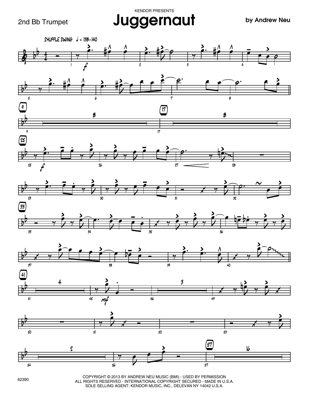 Juggernaut - 2nd Bb Trumpet Sheet Music