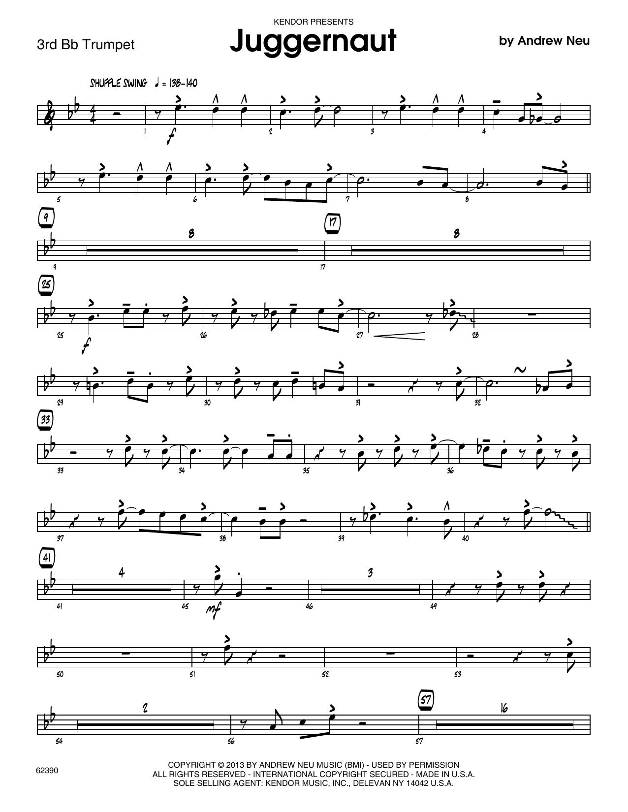 Juggernaut - 3rd Bb Trumpet Sheet Music