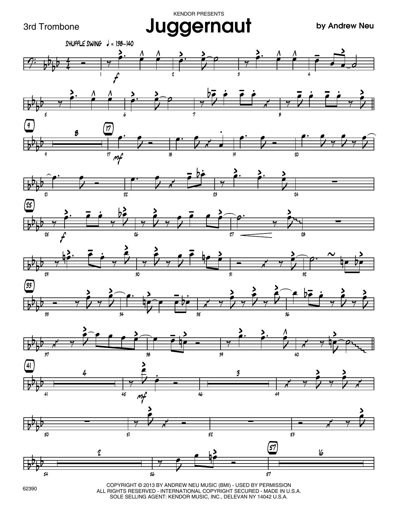Juggernaut - 3rd Trombone Sheet Music